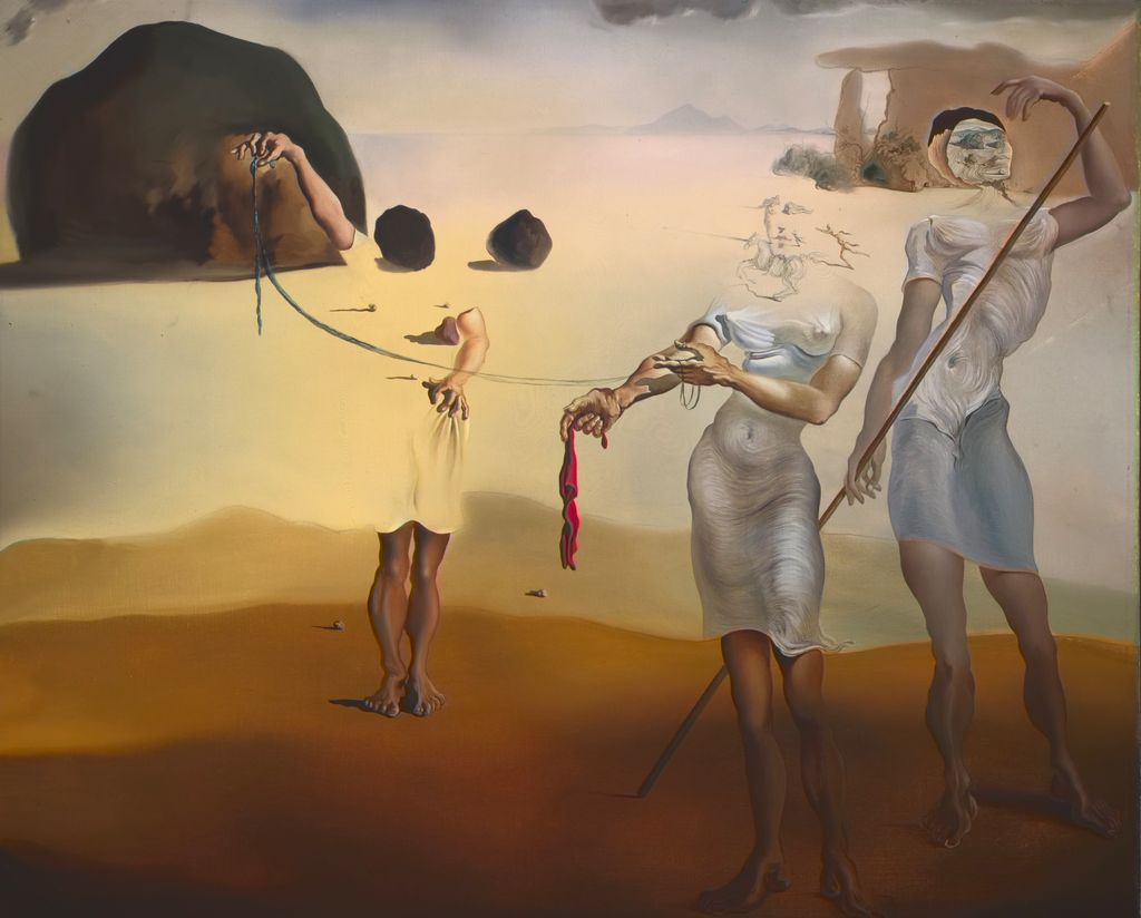 Enchanted Beach with Three Fluid Graces, 1938 by Salvador Dali