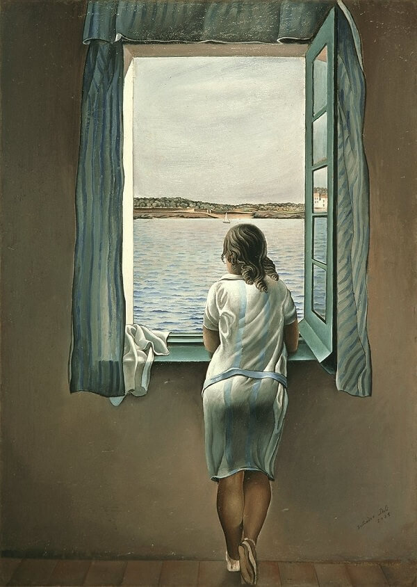 Figure at a Window, 1925 by Salvador Dali
