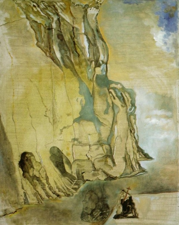 The Landscape with Hidden Image of Michelangelo's David, 1982 by Salvador Dali