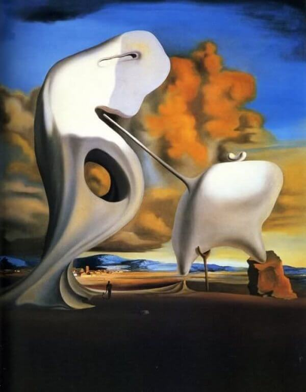 Millet's Architectonic Angelus, 1933 by Salvador Dali