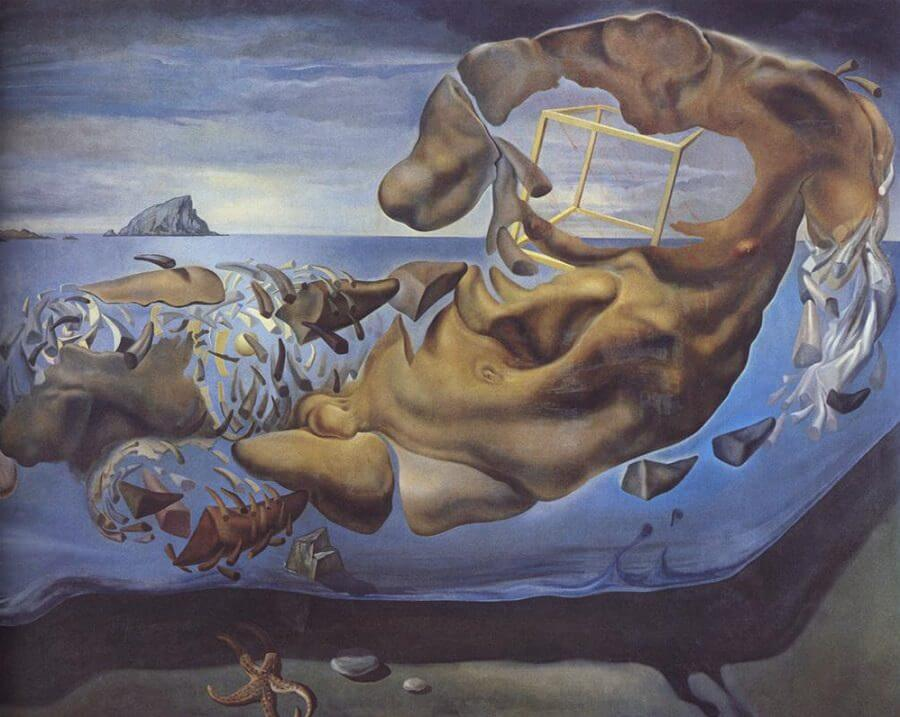 Rhinocerotic Figure of Phidias's Illisos, 1954 by Salvador Dali