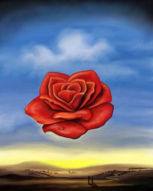 meditative rose meaning Rose meditative by salvador dali - learn more about the history of this famous painting.