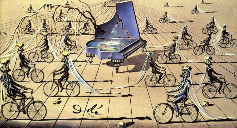 Sentimental Colloquy, 1944  by Salvador Dali