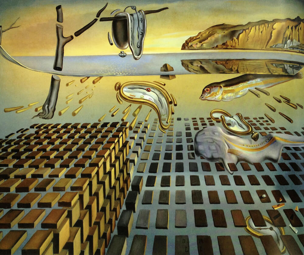 the disintegration of the persistence of memory by salvador dali