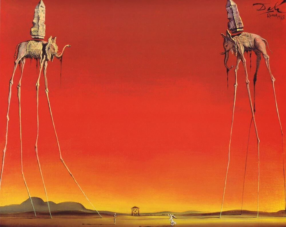 The Elephants, 1948 by Salvador Dali