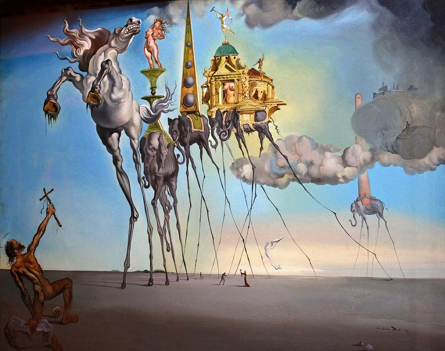 The Temptation of St. Anthony by Salvador Dali (1946)