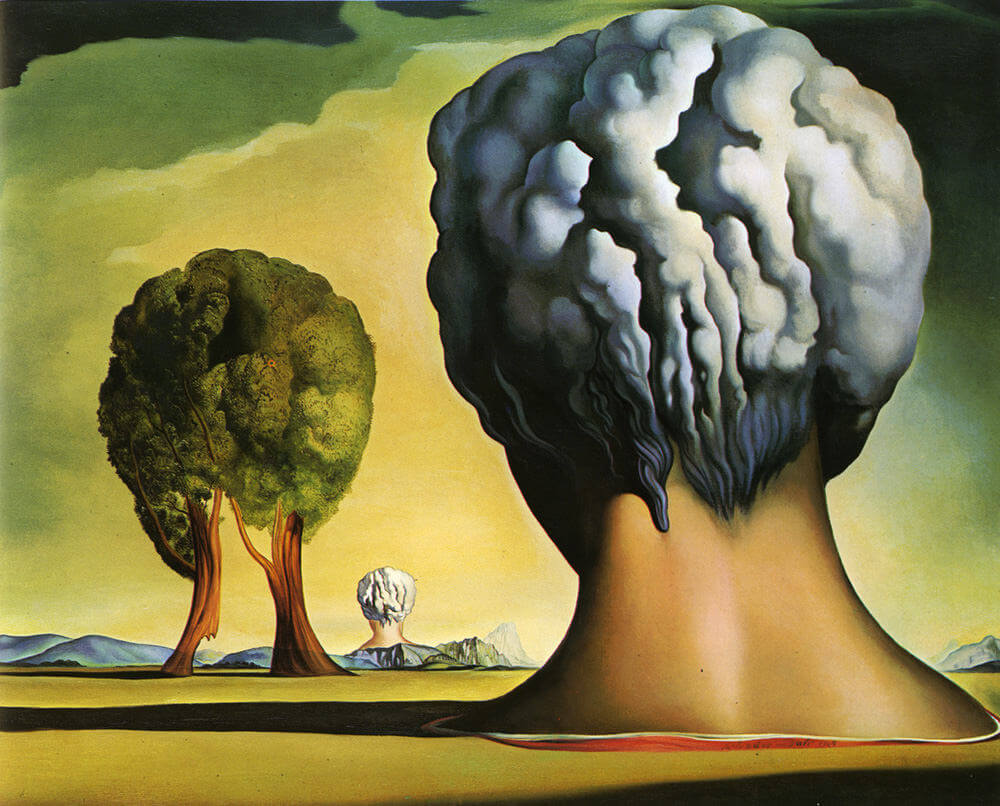 three sphinxes of bikini 1947 by salvador dali