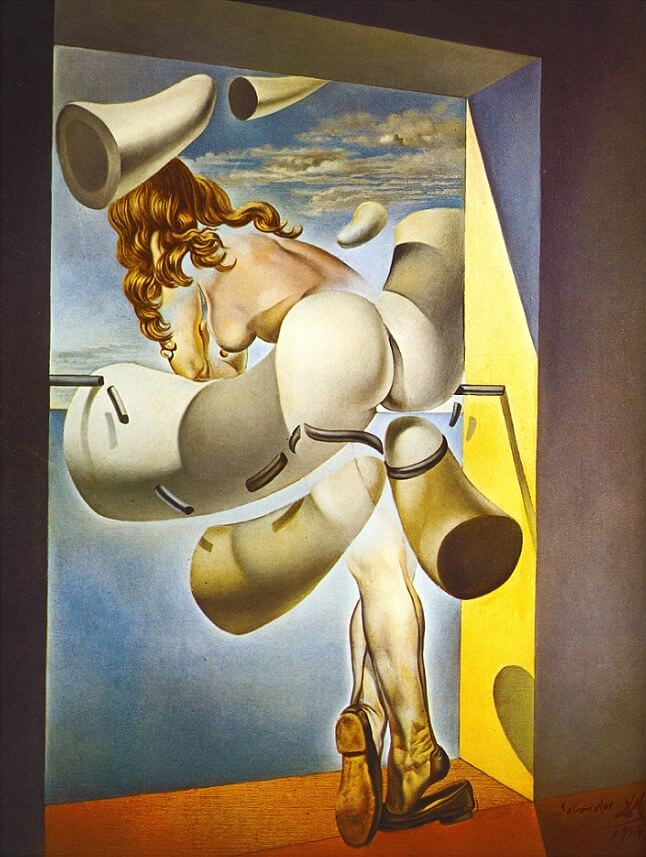 The Young Virgin Auto-Sodomized by Her Own Chastity, 1954 by Salvador Dali